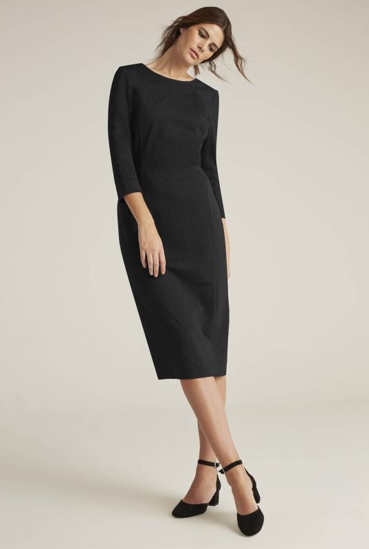 Ponte Spot 3/4 Sleeve Suit Dress