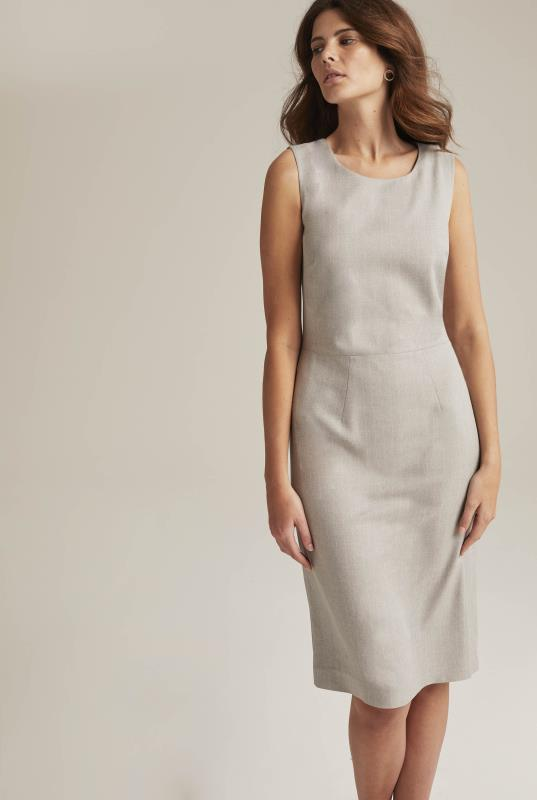 Tall Shift Dress Grey Tailored Sleeveless Suit Shift Dress