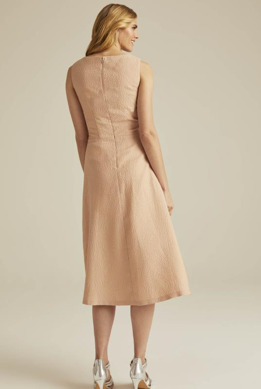Peach Occasion Jacquard Suit Dress