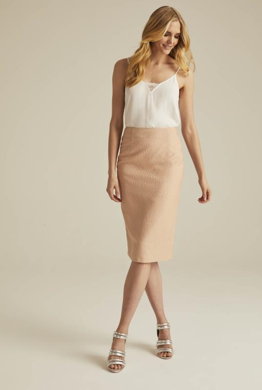 Occasion Jacquard Suit Skirt