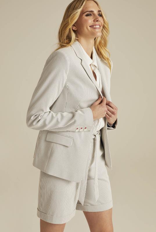 Cotton Rich Ticking Stripe Suit Jacket