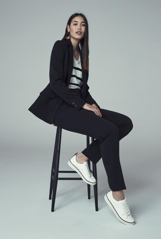 Black Slim Leg Suit Trouser