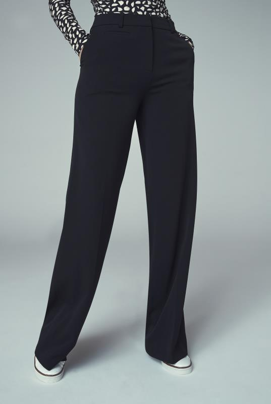 Black Wide Leg Suit Trouser