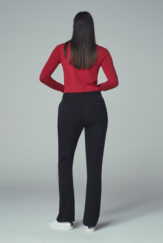 Black Smart Suit Bootcut Trousers
