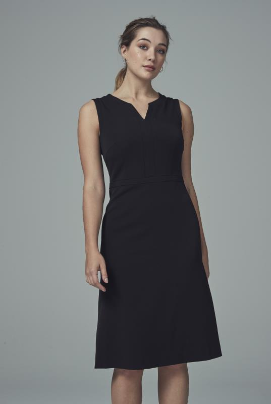 Black A-line Suit Dress