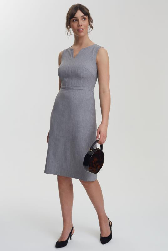 Grey Mix and Match A-line Suit Dress