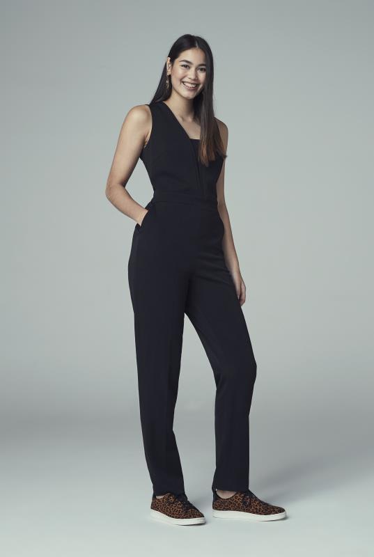 Tall Jumpsuits Black Tapered Leg Jumpsuit