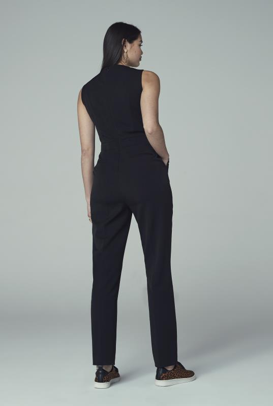 Black Tapered Leg Jumpsuit