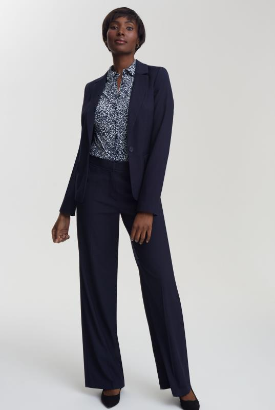 Navy Pin Dot Suit Jacket