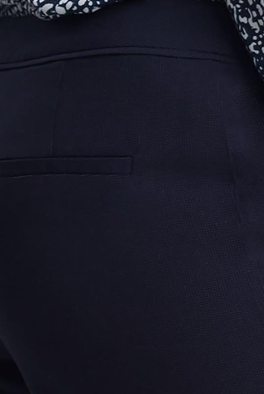 Navy Pin Dot Wide Suit Trouser