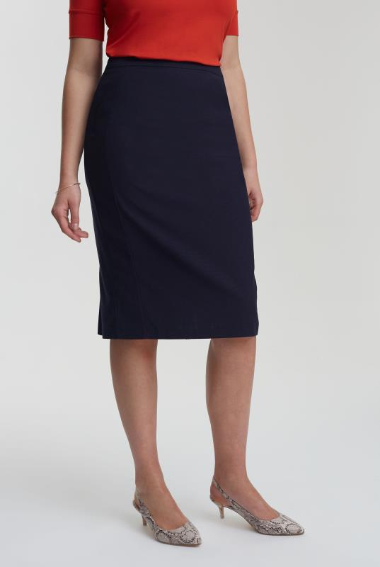 Navy Pin Dot Suit Skirt