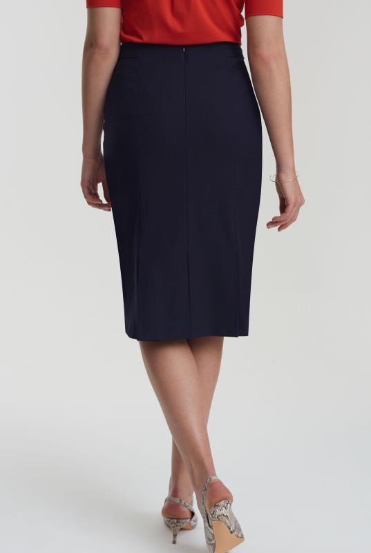Navy Pin Dot Suit Skirt