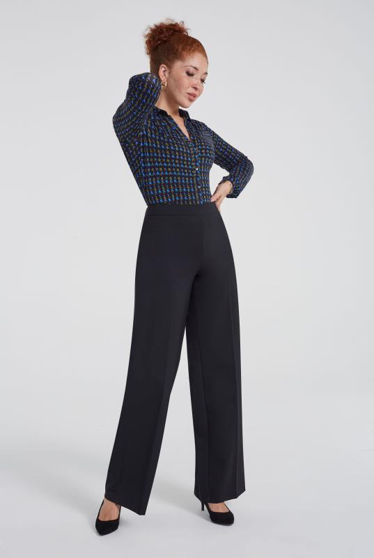 Premium Wool Blend Wide Leg Suit Trouser