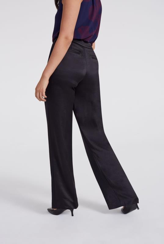 Satin Suit Wide Leg Trouser