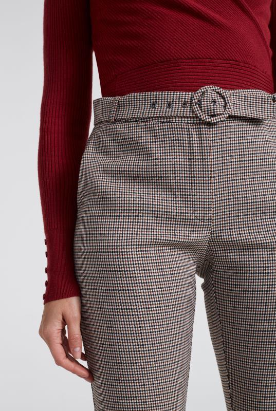 Beige Mini Check Slim Suit Trouser_4.jpg