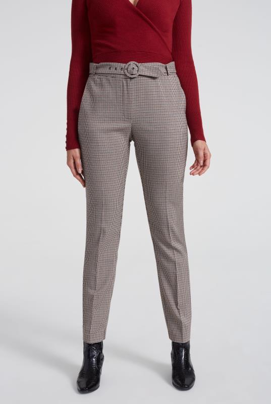 Beige Mini Check Slim Suit Trouser_5.jpg