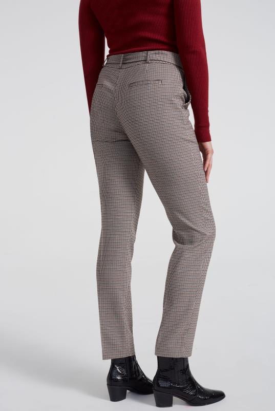 Beige Mini Check Slim Suit Trouser_6.jpg