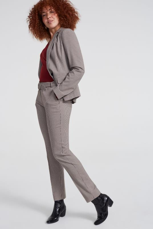 Beige Mini Check Slim Suit Trouser_7.jpg