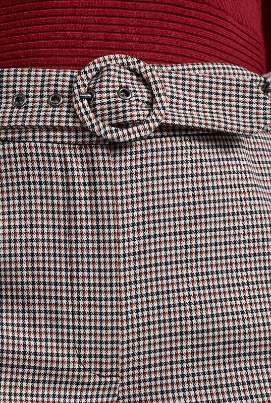 Beige Mini Check Slim Suit Trouser_9.jpg