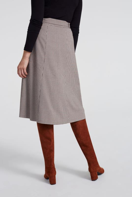 Mini Check Flared Suit Skirt