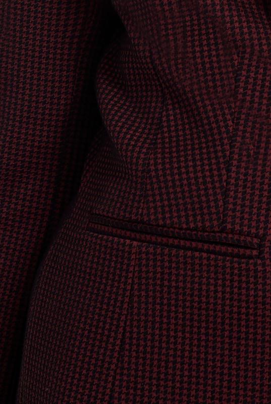 Ponte Stretch Mini Check Suit Jacket