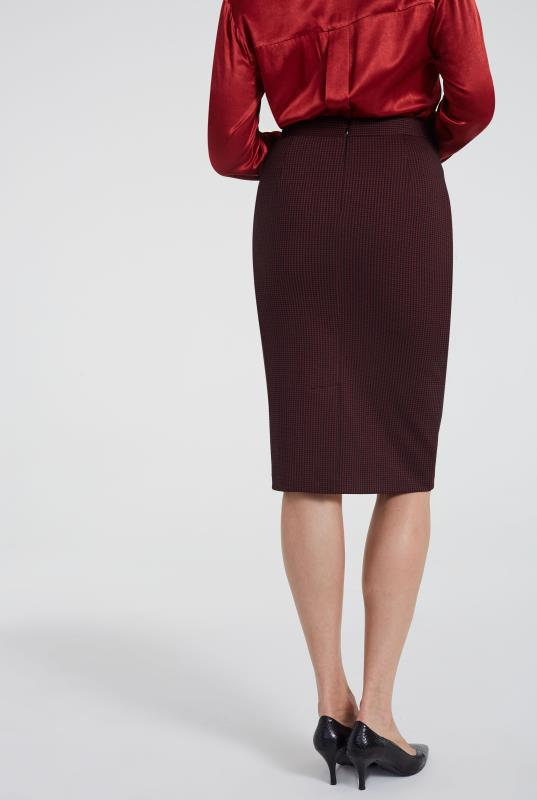 Ponte Stretch Mini Check Pencil Suit Skirt