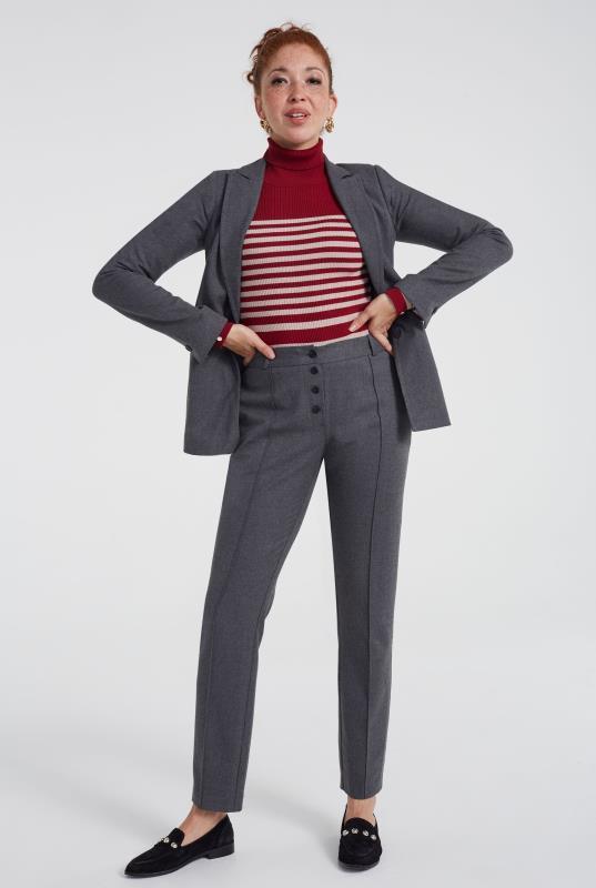 Grey Luxe Flannel Suit Jacket