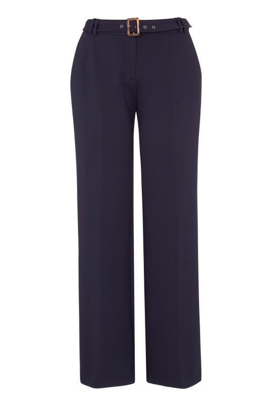 Navy Ponte Wide Leg Suit Trouser