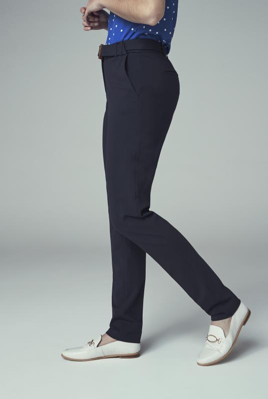Navy Ponte Slim Leg Suit Trouser