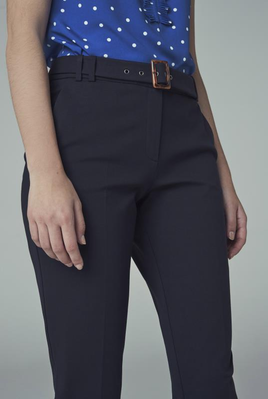 Navy Ponte Slim Leg Suit Trouser