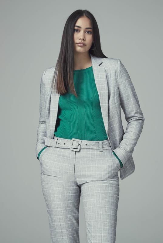 Grey Check Suit Jacket