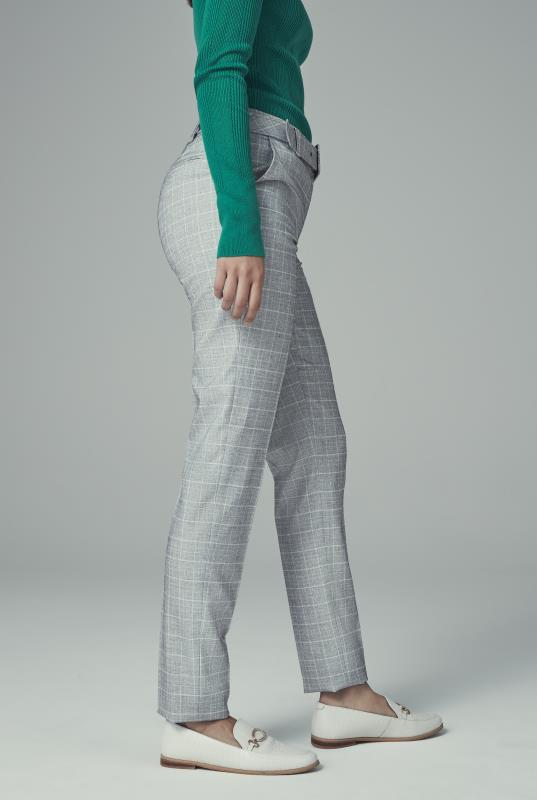 Grey Check Slim Leg Suit Trouser