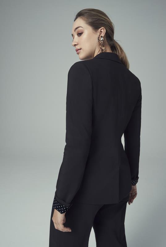 Black Cotton Rich Suit Jacket