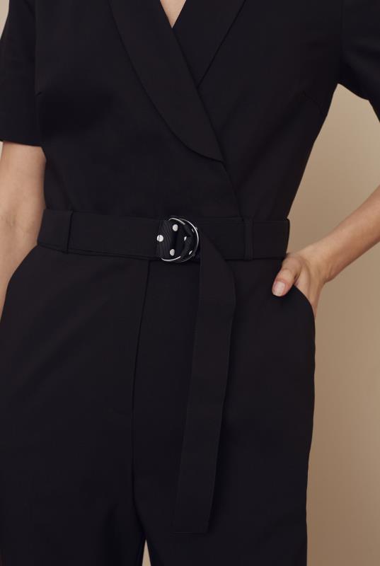 Black Cotton Rich Jumpsuit