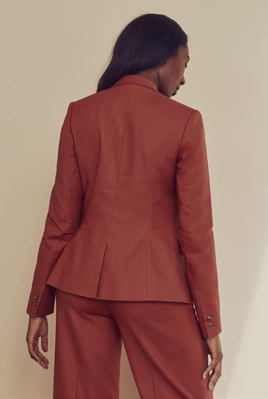 Rust Natural Blend Stretch Suit Jacket