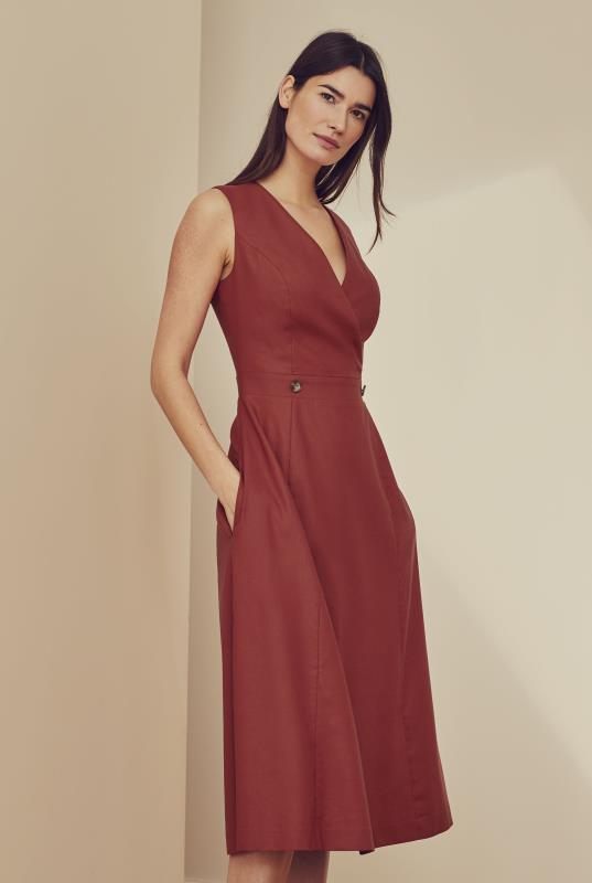 Natural Blend Stretch Suit Dress
