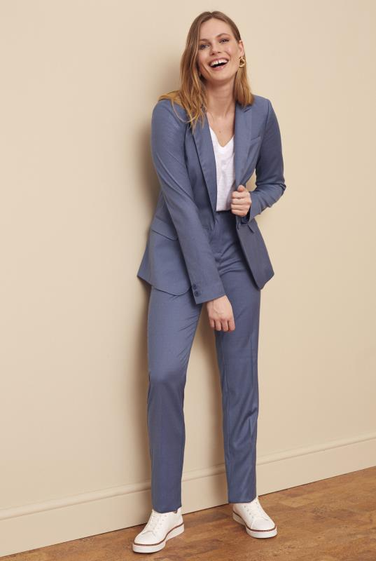 Blue Pindot Summer Weight Suit Jacket