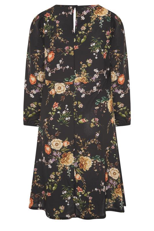 YOURS LONDON Black Blossom Midi Dress_BK.jpg