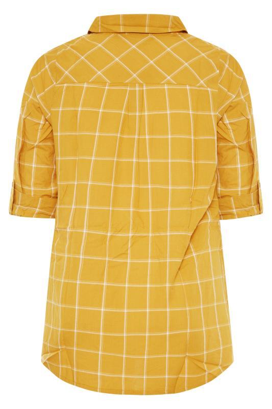 Mustard Yellow Overhead Check Shirt_BK.jpg