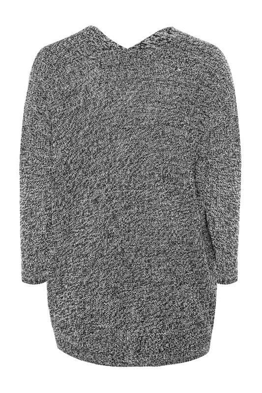 Grey Mono Button Knitted Cardigan_BK.jpg