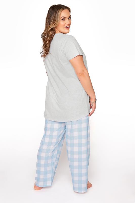 DISNEY Grey Dumbo Check Print Pyjama Set_C.jpg