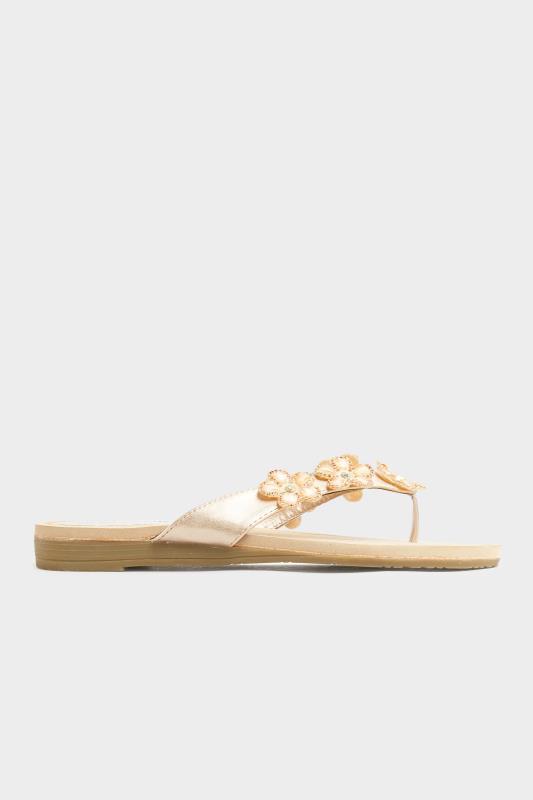 Rose Gold Flower Gem Sandals in Regular Fit_B.jpg