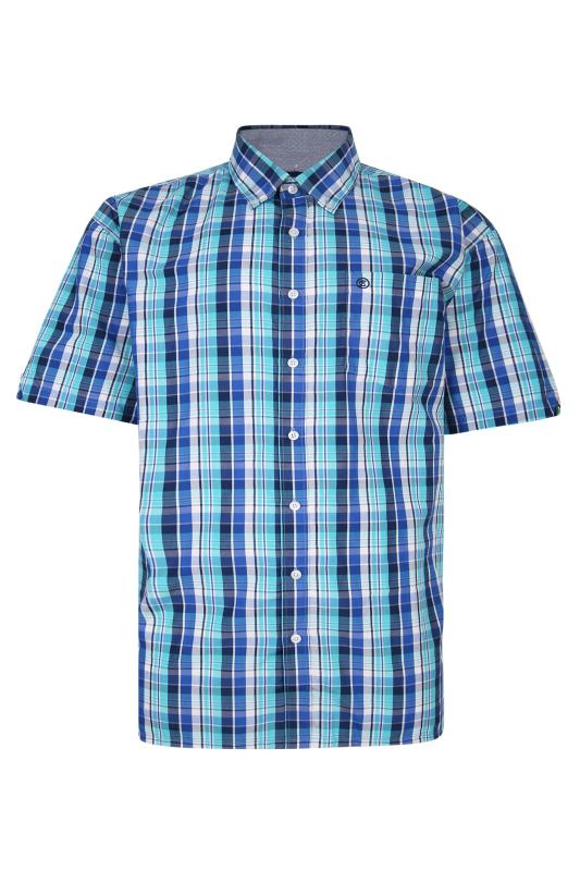Men's  ESPIONAGE Blue Check Shirt