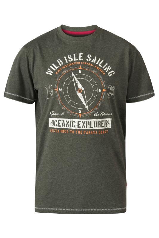 Men's  D555 Khaki Oceanic Explorer Printed T-Shirt