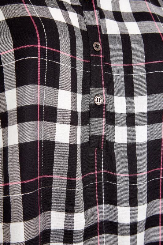 Black Grown On Sleeve Check Shirt_S.jpg