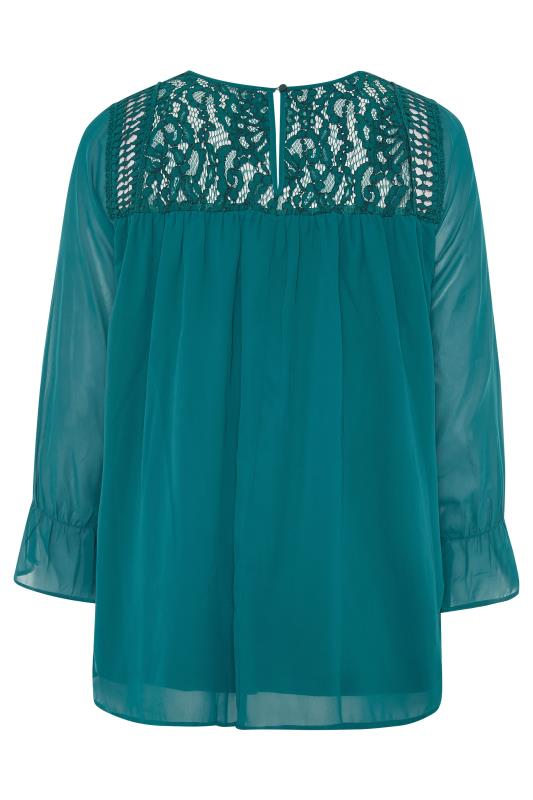 YOURS LONDON Teal Lace Blouse_bk.jpg