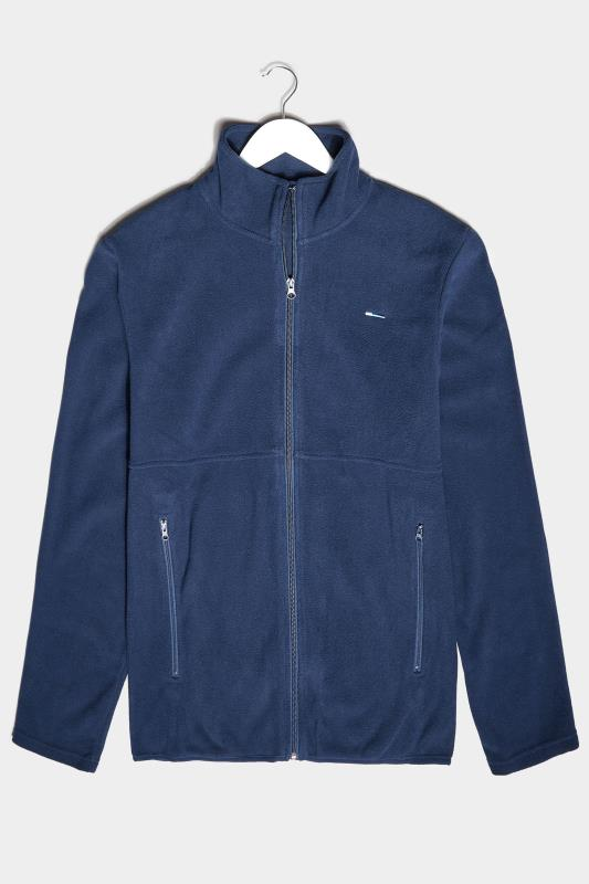 Men's  BadRhino Navy Essential Zip Through Fleece