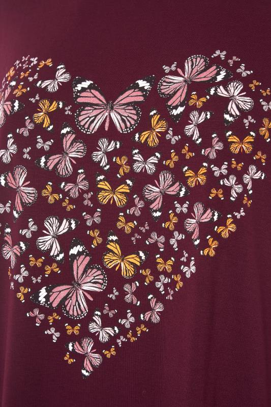 LIMITED COLLECTION Wine Butterfly Heart T-Shirt_S.jpg