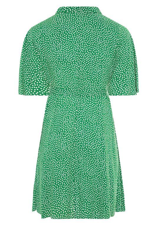 THE LIMITED EDIT Green Polka Dot Shirt Mini Dress_BK.jpg