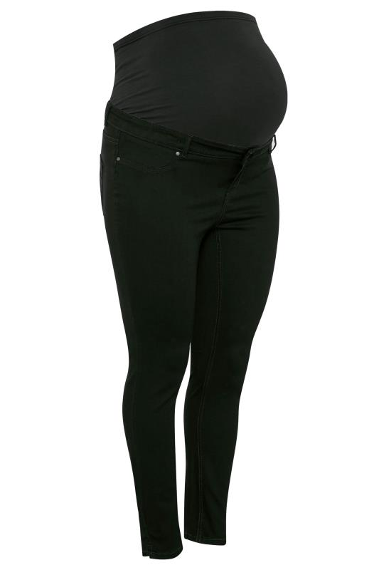 BUMP IT UP MATERNITY Black Skinny Jeans With Comfort Panel